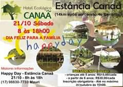 """""""HAPPY DAY"""" – Estância Canaã 21 de OUTUBRO – SÁBADO – 8h às 18h E TAMBÉM DOMIN…"""