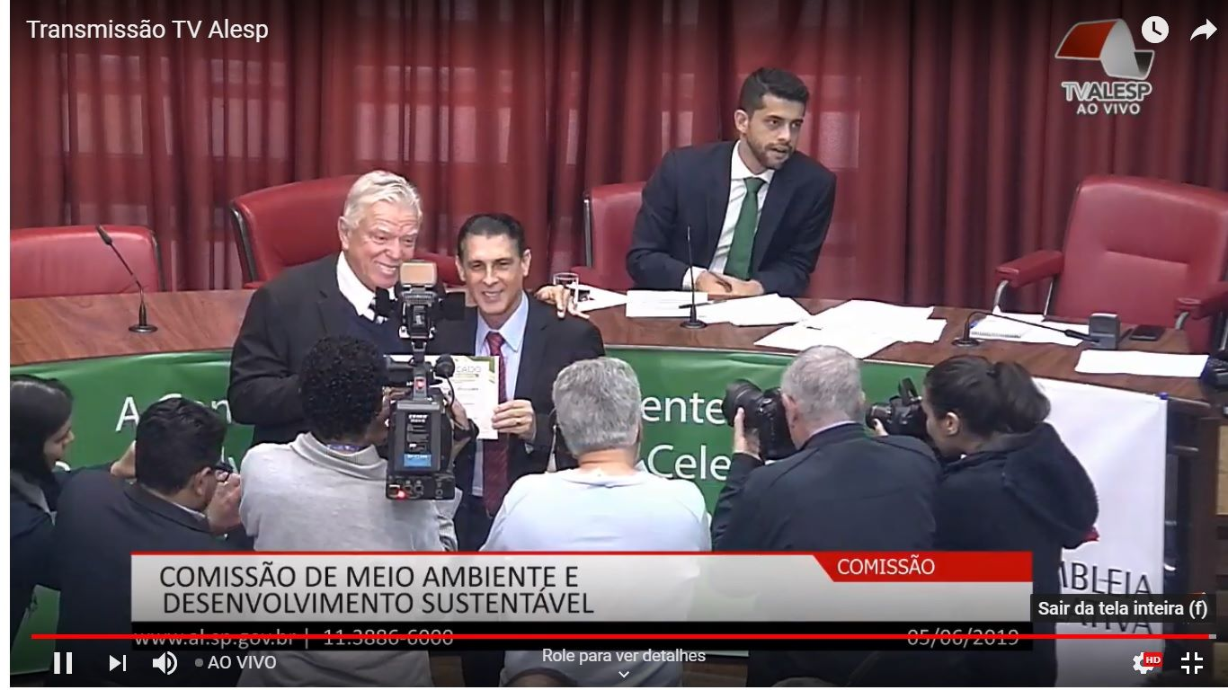 Mauri Trevisan, gestor do Hotel Ecológico Canaã recebeu neste dia 5/6, DIA INTER…