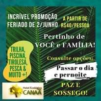 FERIADO DE 2 DE JUNHO, PRA VOCÊ E FAMÍLIA!  À PARTIR DE 40 REAIS/PESSOA! uau!! …