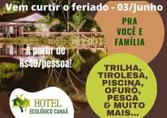 FERIADO DE 3 DE JUNHO, PRA VOCÊ E FAMÍLIA!  À PARTIR DE 40 REAIS/PESSOA! uau!! …